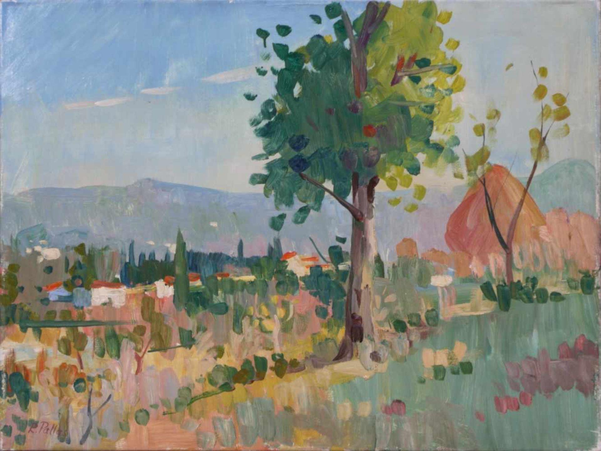 Pallas, Reinhold (1901-1970) - Bei ArezzoMediterrane Landschaft in der typischen Manier des