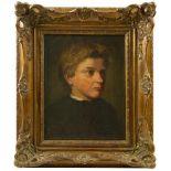 Unsigniert - Portrait eines Jungen 19. Jhd.Brustbild eines nach rechts gewandten Jungen, im