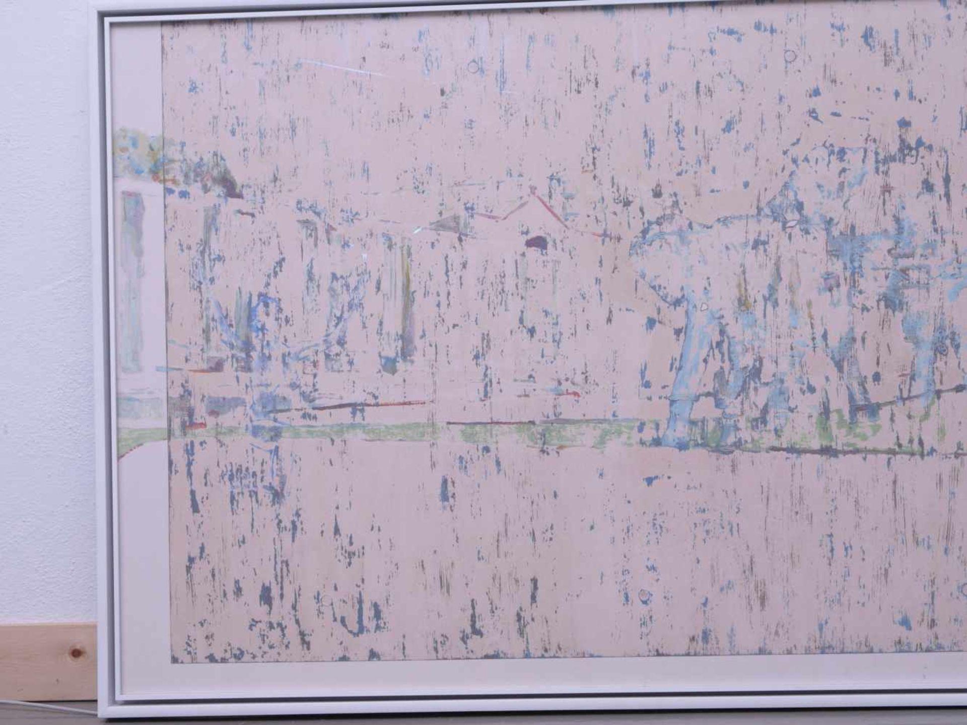 Dauphin, Peter genannt Muth (Nürnberg 1957) - Großformatiges Gemälde SavanneAbstraktes Querformat, - Bild 3 aus 3