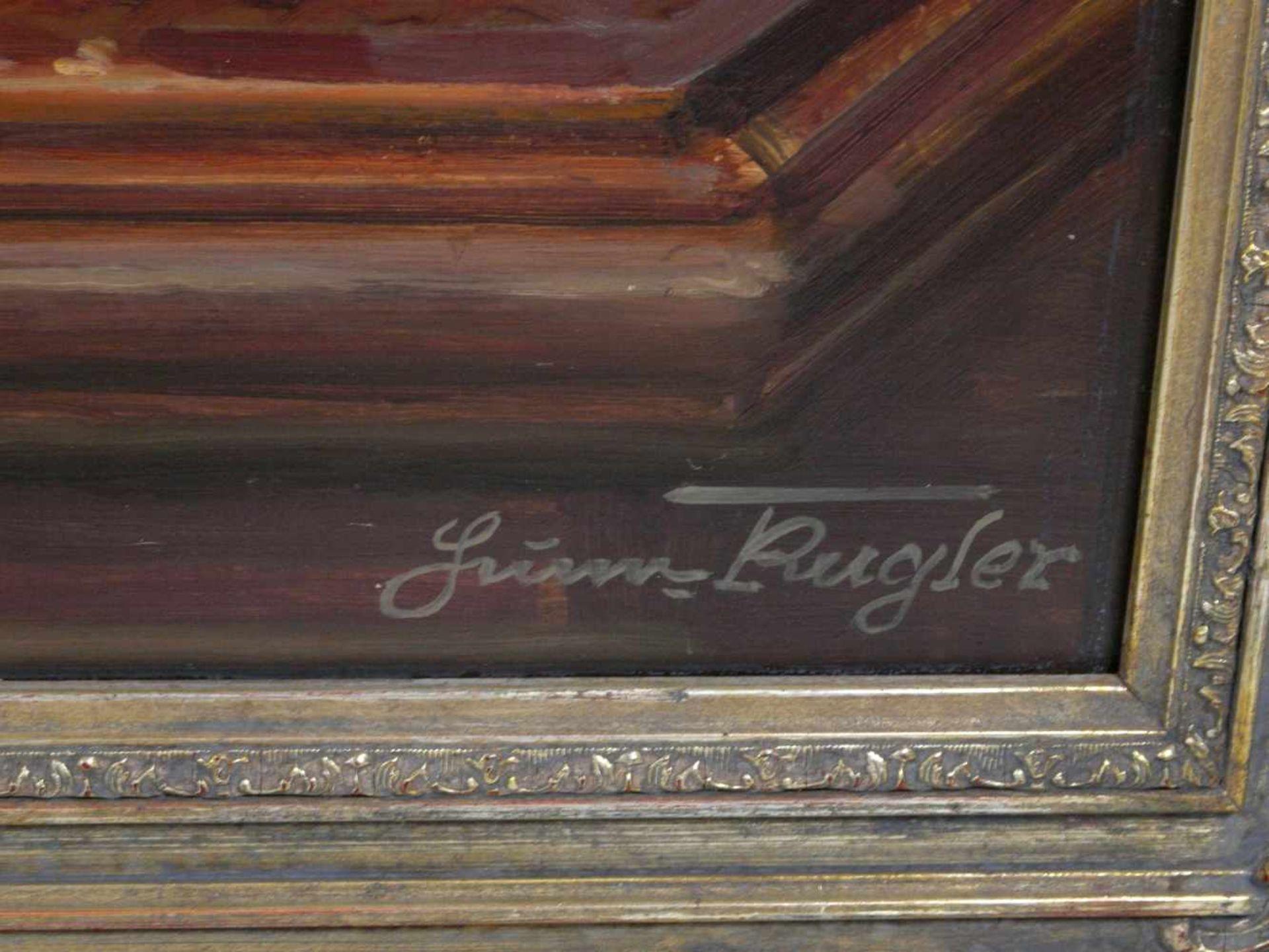 Kugler, Heinrich (1888- ca. 1946) - Symbolträchtiges Stillleben NürnbergGroßformatiges Gemälde in Öl - Bild 4 aus 8