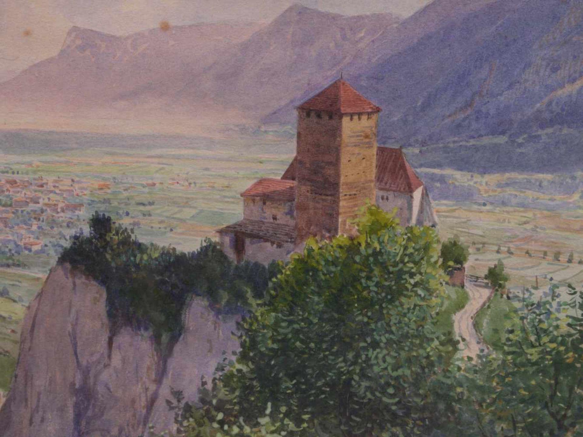 Kargl, Rudolf (1878-1942) - Schloss Tirol mit MeranKleines Querformat, hinter der charakteristischen - Bild 3 aus 4