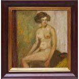 Purrmann, Karl (1877-1966) - Sitzende Schöne 1925Weiblicher Akt, auf der Kante eines Bettes