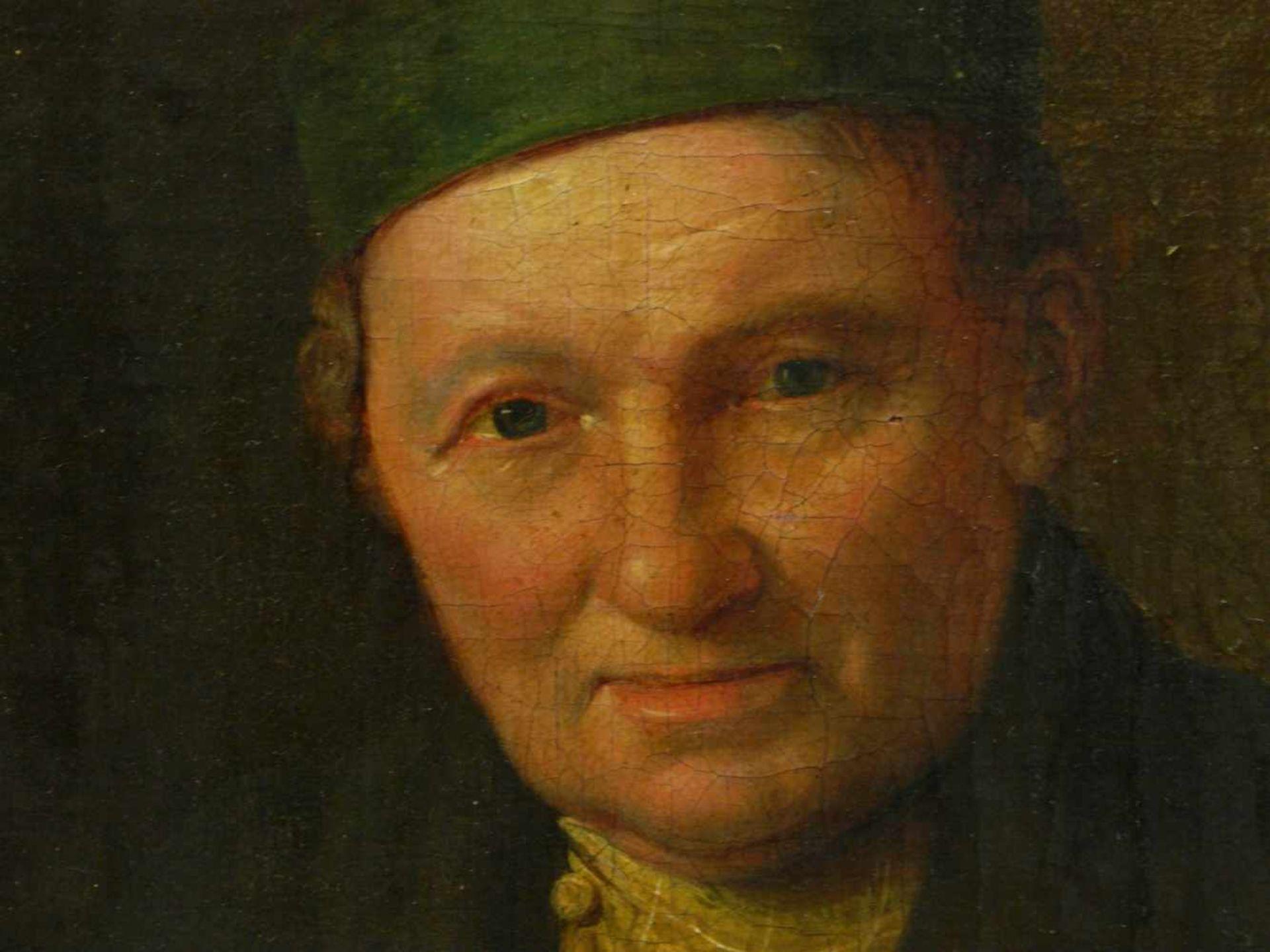 Sig. N. A?mayer - Portrait eines BürgersQualitativ hochwertig ausgeführtes Portait eines auf einen - Bild 6 aus 7