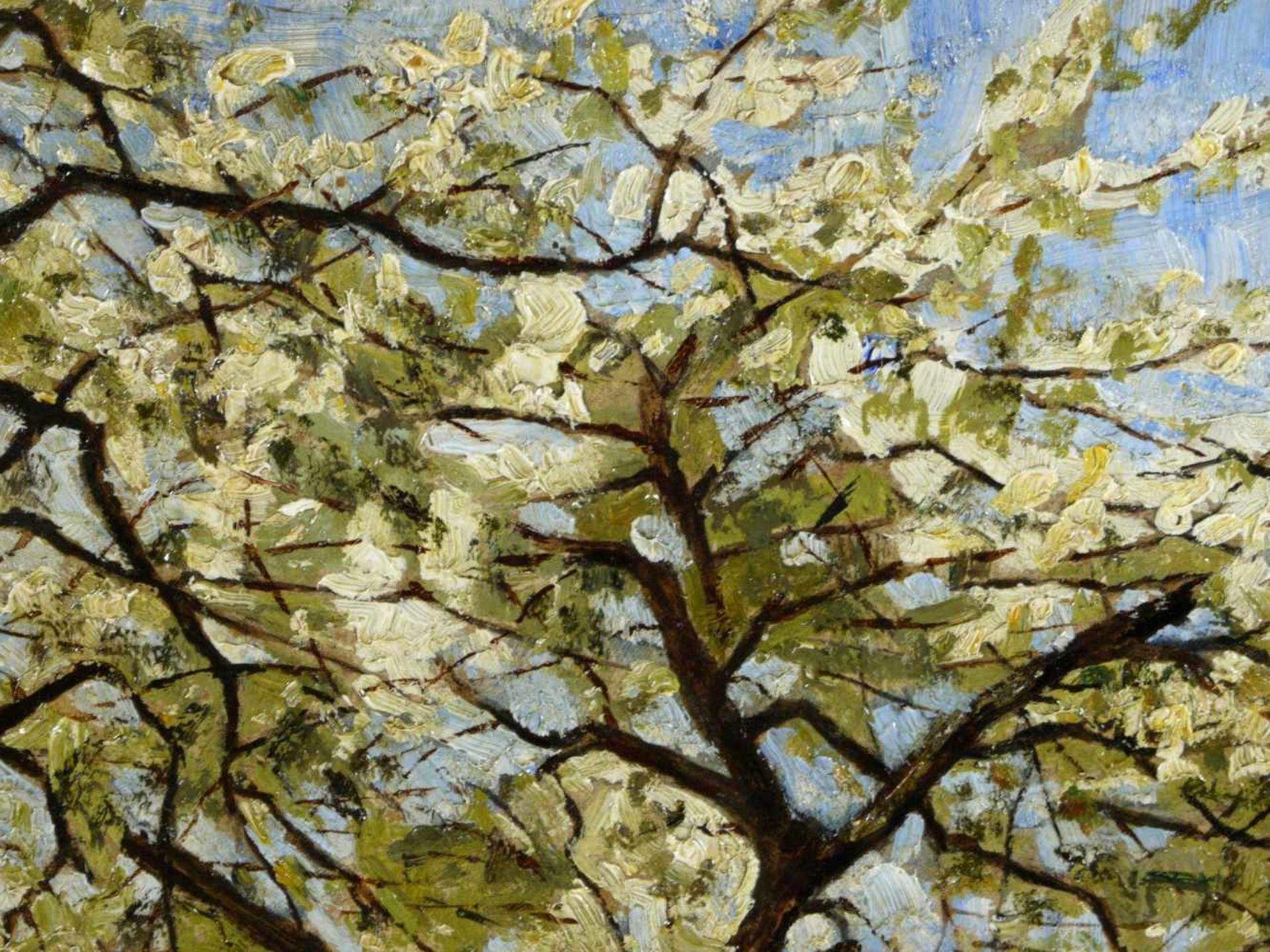 Koch, Michel (1853-1927) - Blühende FrühlingslandschaftFriedvolle Darstellung eines von blühenden - Bild 4 aus 6
