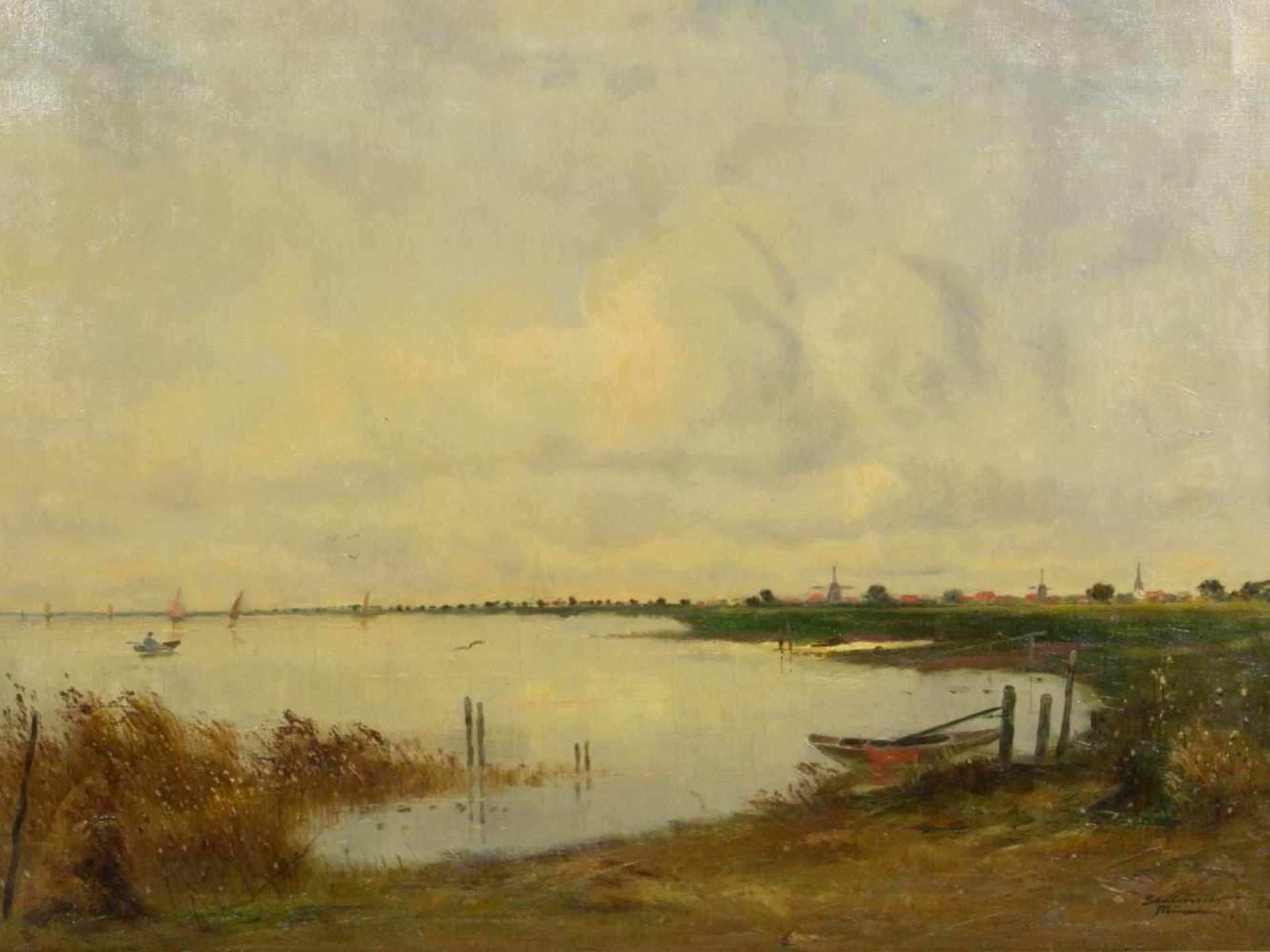 Sedlmeier (Sedlmayer), Sepp - Küstenlandschaft in Norddeutschland oder HollandLandschaftsdarstellung - Bild 2 aus 6