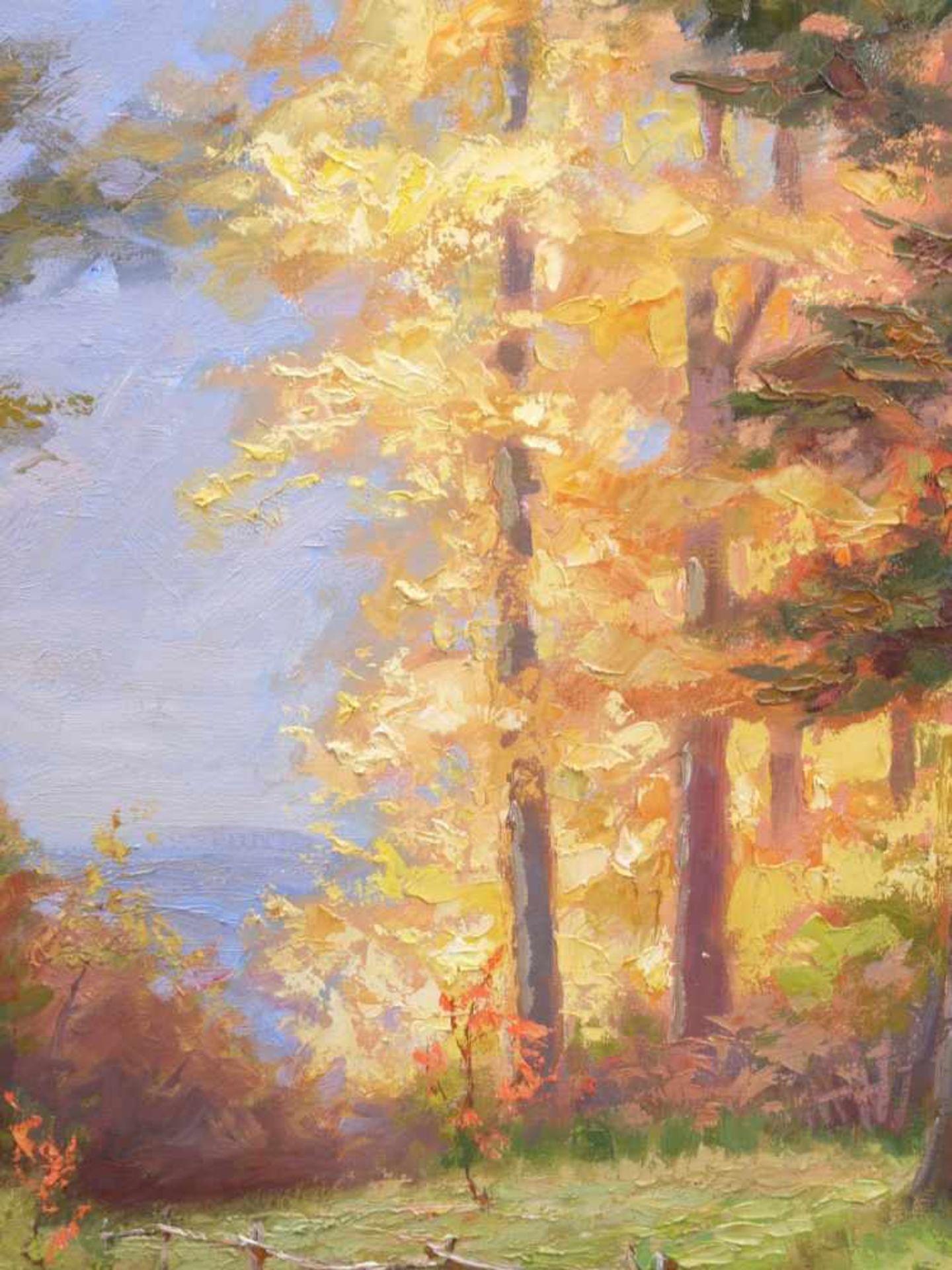 Böhme, Hans (1905-1982) - Herbstlicher LaubwaldIn golden-herbstlicher Farbpalette strahlt diese - Bild 3 aus 5