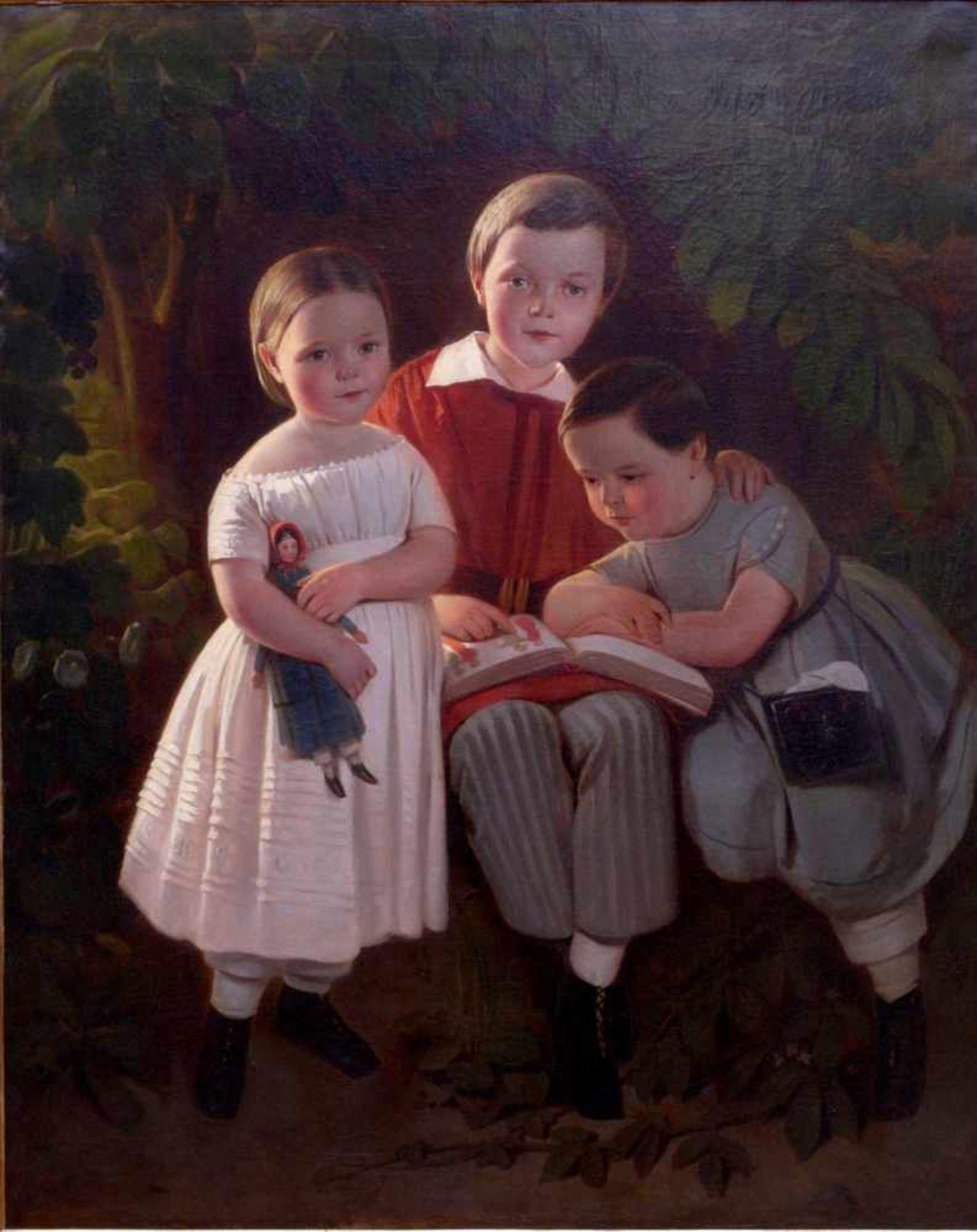 Karl Theodor von Piloty (1826-1886) - Portrait Familie Knauth in Leipzig 1849Großformatiges Portrait - Bild 2 aus 5