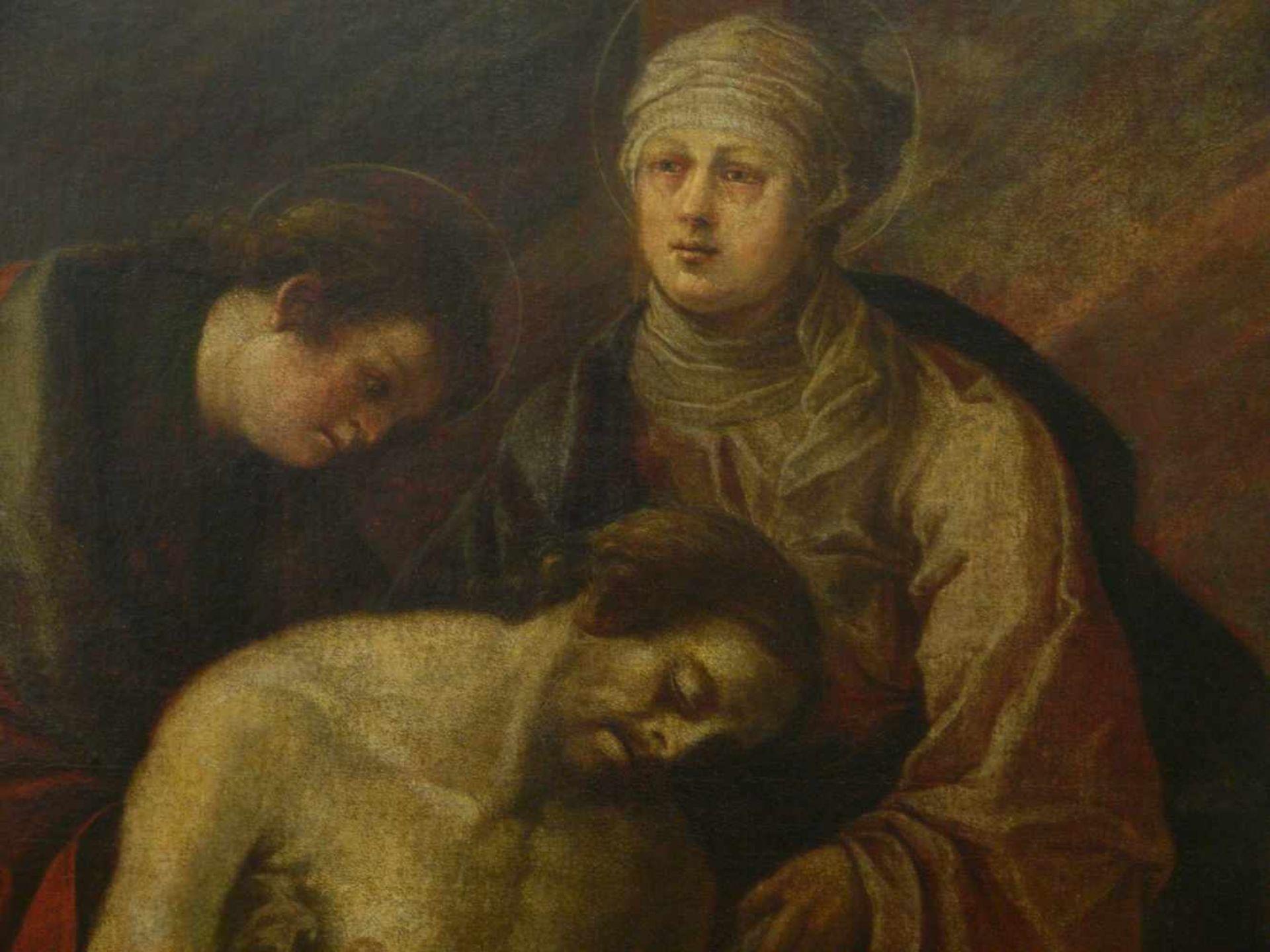 Niederländischer Meister - Beweinung Christi 18. Jhd.Lebensgroßes Hochformat. Johannes und Maria - Bild 2 aus 4