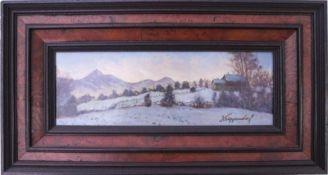 Krippendorf, Franz (1907-1982) - WinterlandschaftDekoratives gestrecktes Querformat. Darauf ein