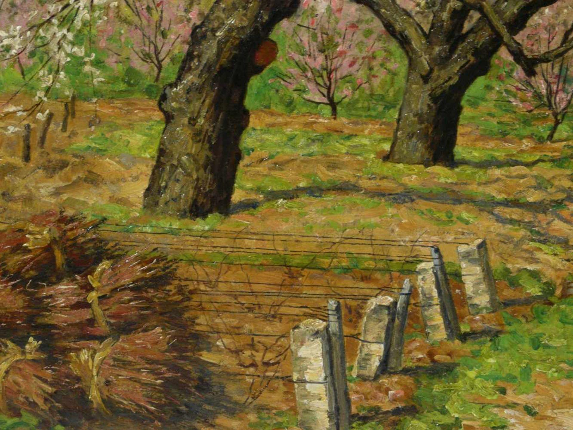 Koch, Michel (1853-1927) - Blühende FrühlingslandschaftFriedvolle Darstellung eines von blühenden - Bild 5 aus 6