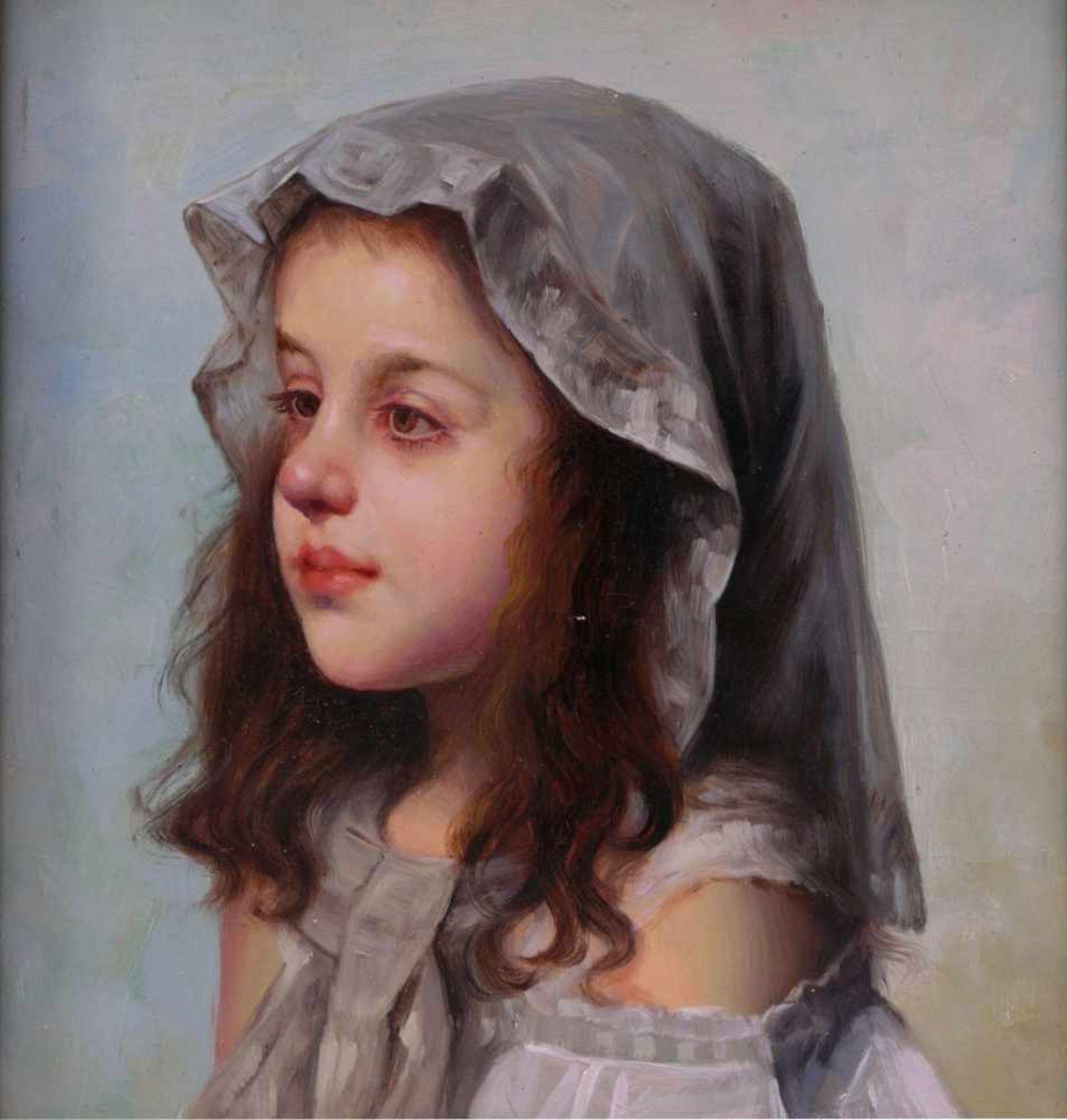 Rossi, Alberto (1858-1936) - Portrait enes jungen MädchensFein und detailreich ausgeführtes - Bild 2 aus 6
