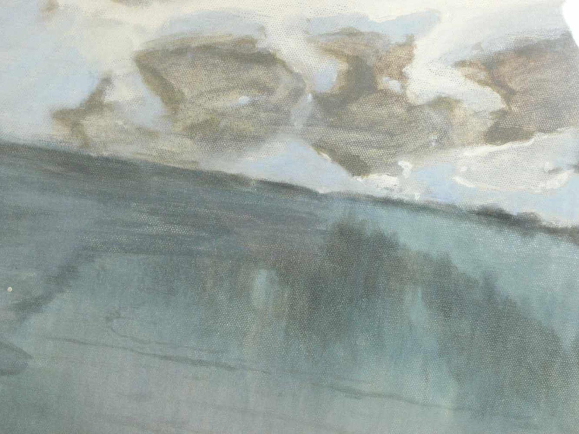 Hans Ritter von Petersen (1850-1914) - SchneeschmelzeIdyllische Winterlandschaft durch die ein - Bild 6 aus 8