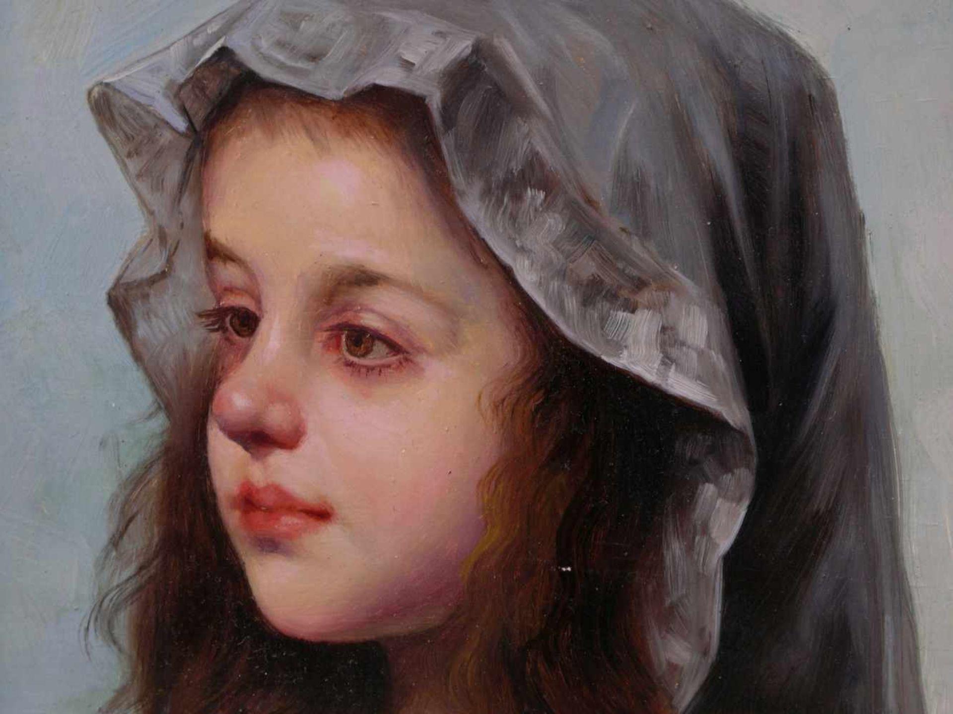 Rossi, Alberto (1858-1936) - Portrait enes jungen MädchensFein und detailreich ausgeführtes - Bild 5 aus 6