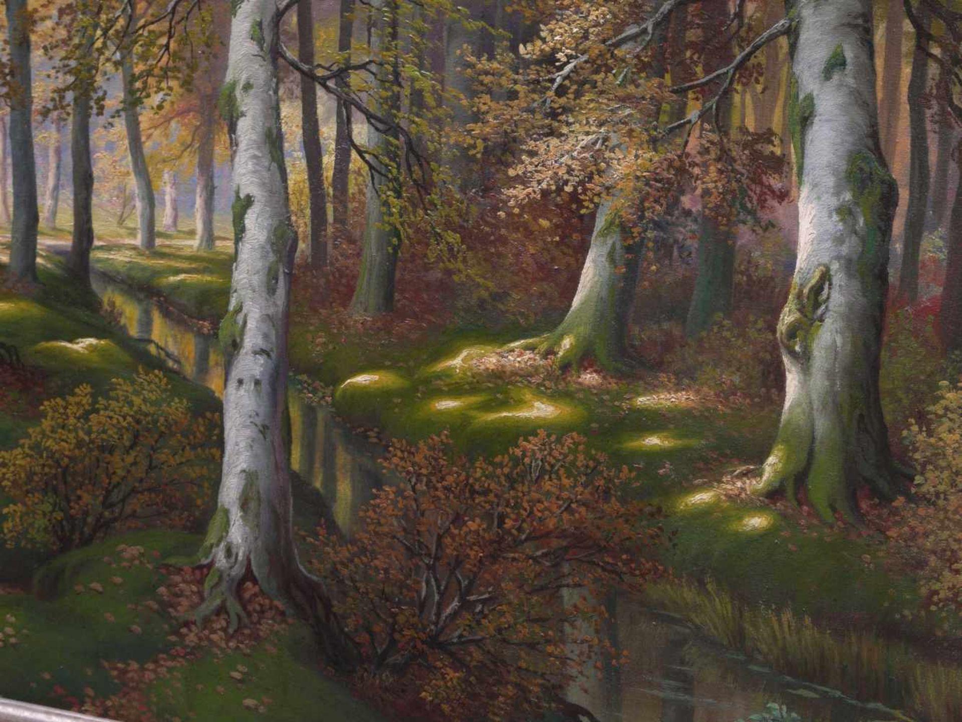 Schmidt, Gustav (1888-1972) - Lichter LaubwaldEin von hellem Licht durchfluteter Laubwald in - Bild 4 aus 7