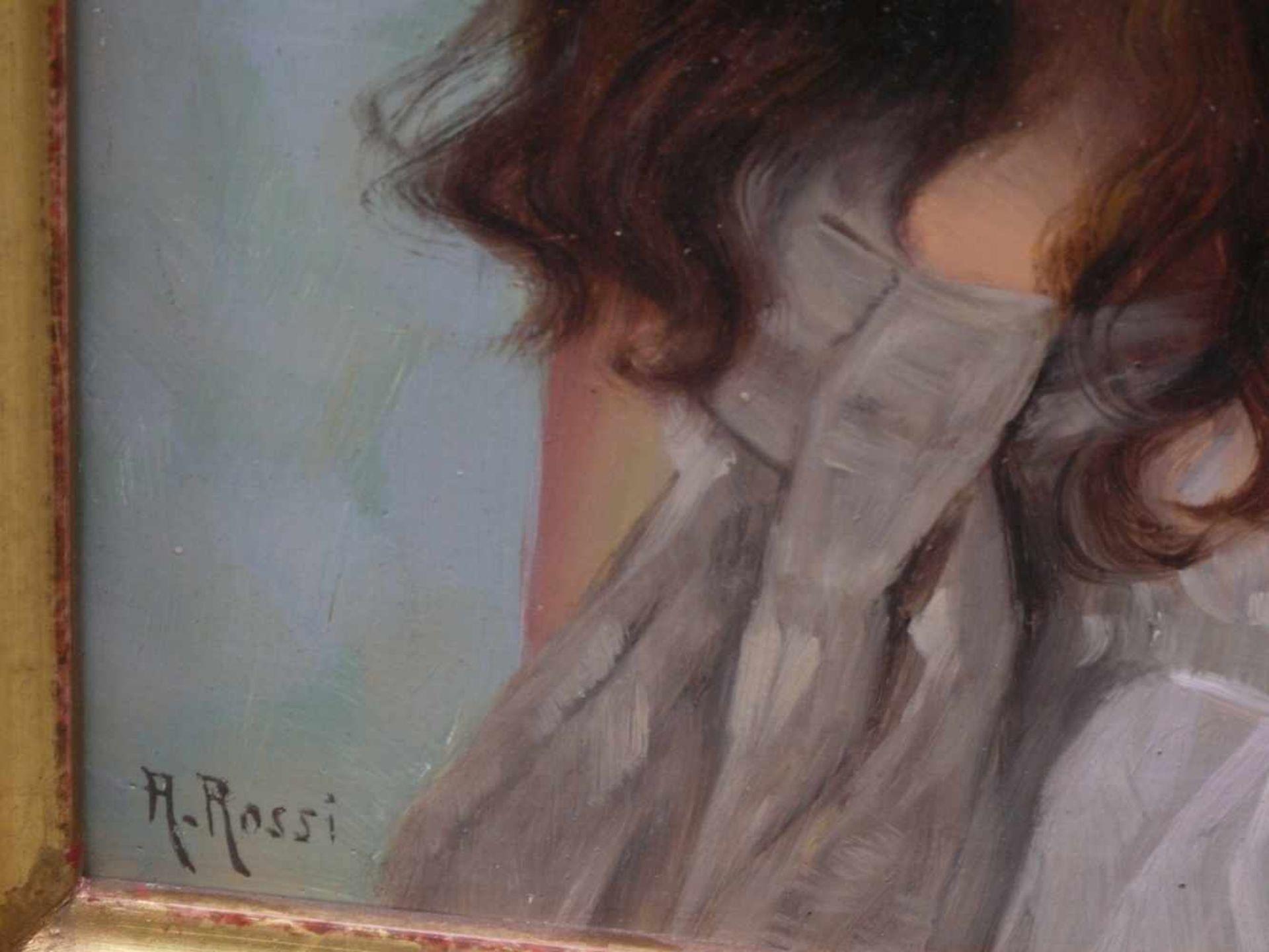 Rossi, Alberto (1858-1936) - Portrait enes jungen MädchensFein und detailreich ausgeführtes - Bild 3 aus 6