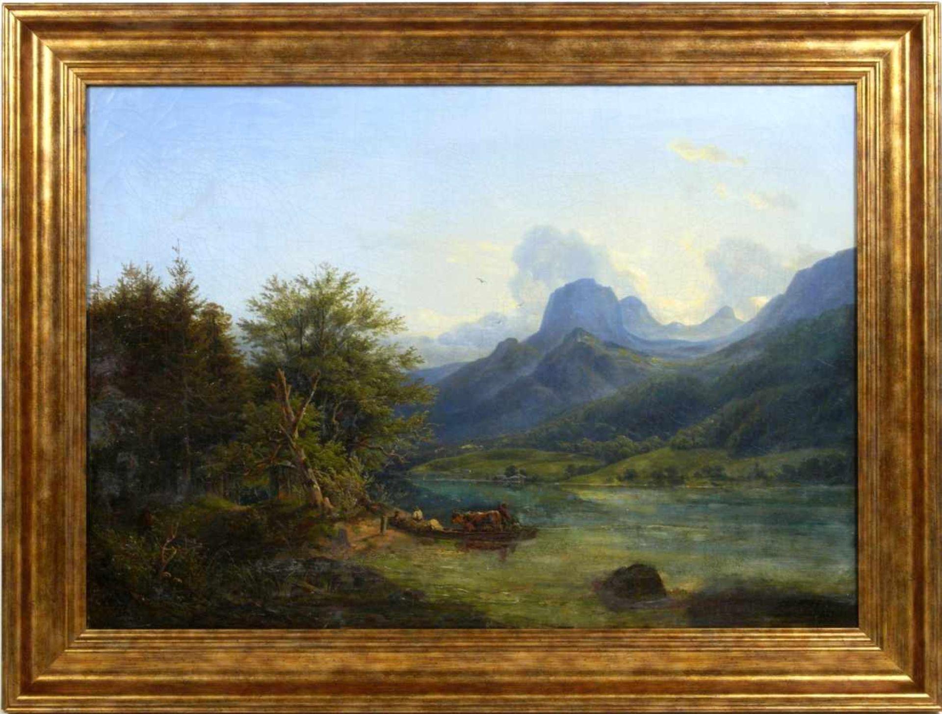 Ott, Johann Nepomuk (1804 - 1870) - Der Hintersee bei Berchtesgaden 1842Landschaftliche