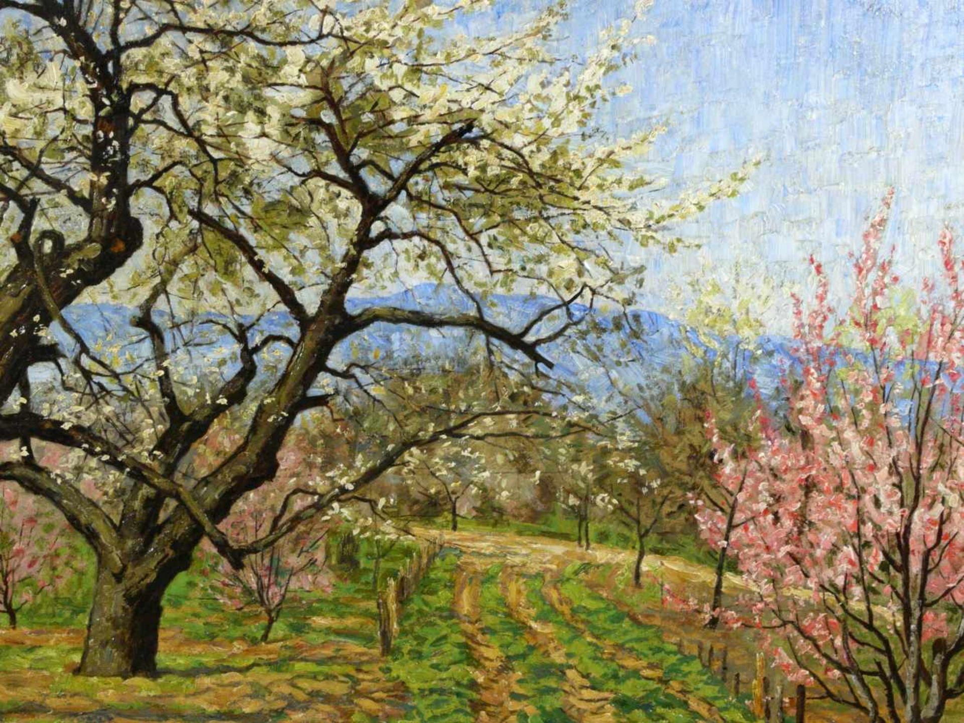 Koch, Michel (1853-1927) - Blühende FrühlingslandschaftFriedvolle Darstellung eines von blühenden - Bild 6 aus 6