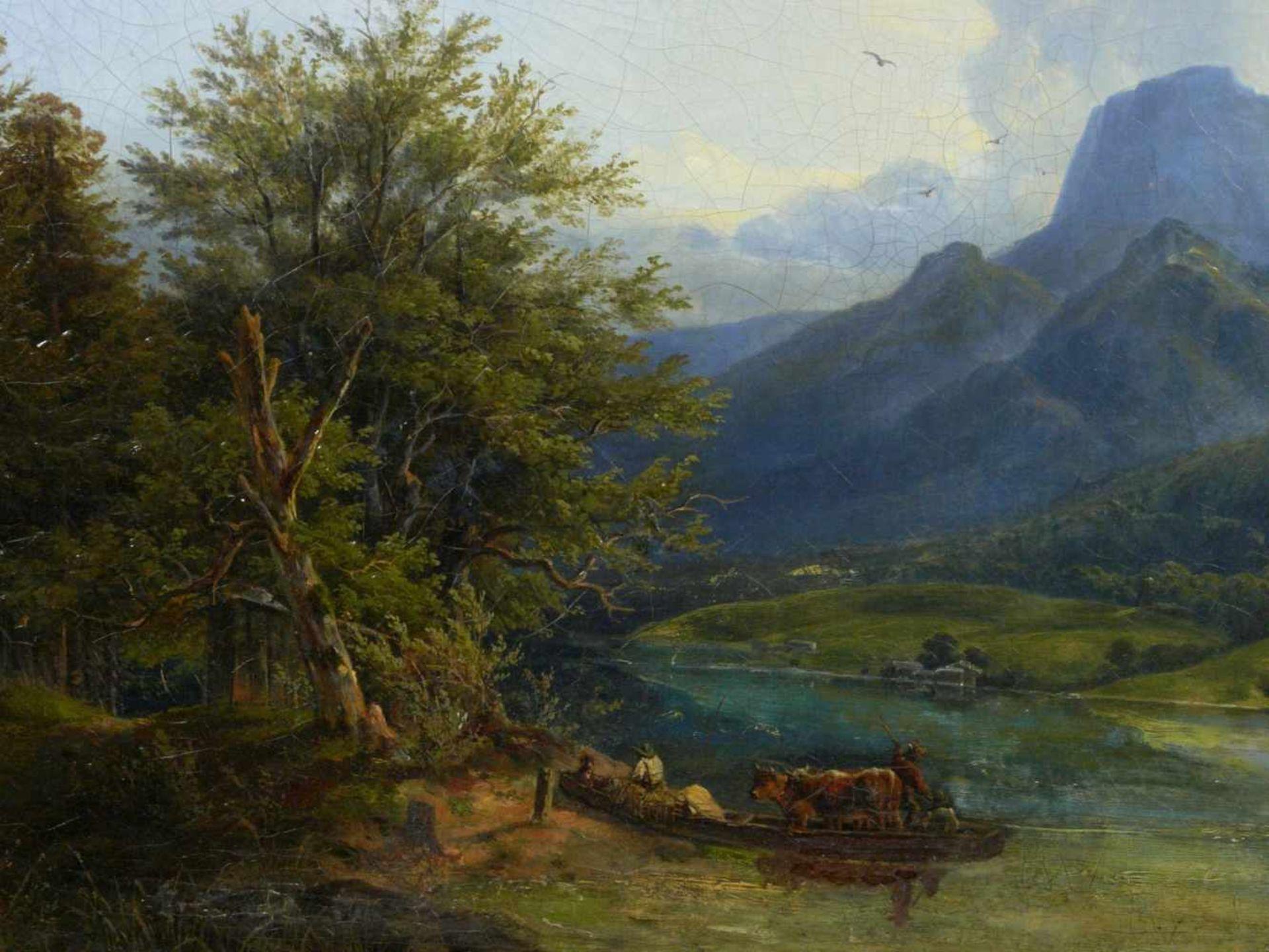 Ott, Johann Nepomuk (1804 - 1870) - Der Hintersee bei Berchtesgaden 1842Landschaftliche - Bild 6 aus 6