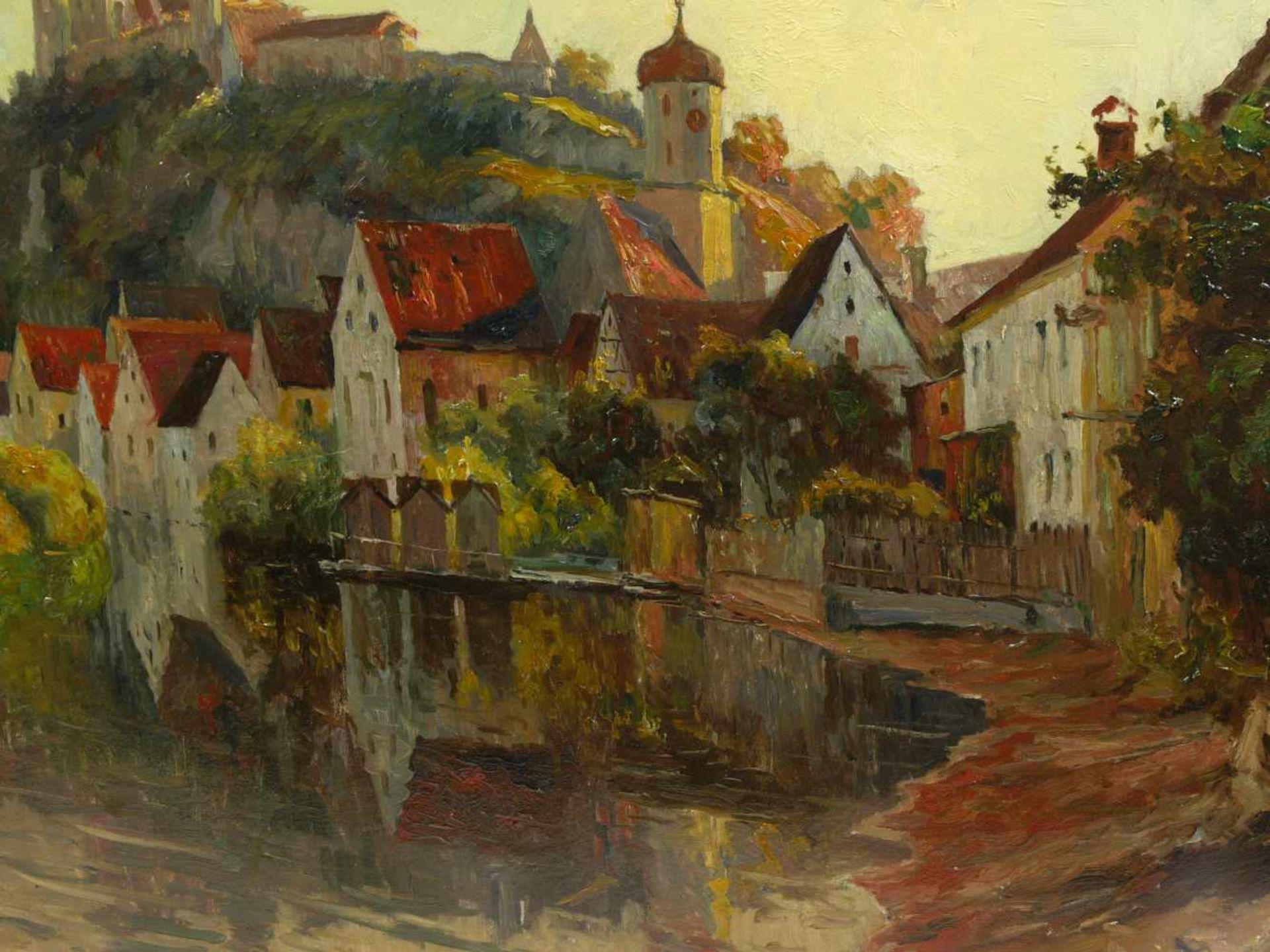 Guillery, Franz Paul Maria (1862-1933) - Blick auf Harburg a. d. WörnitzRomantische Darstellung - Bild 4 aus 6