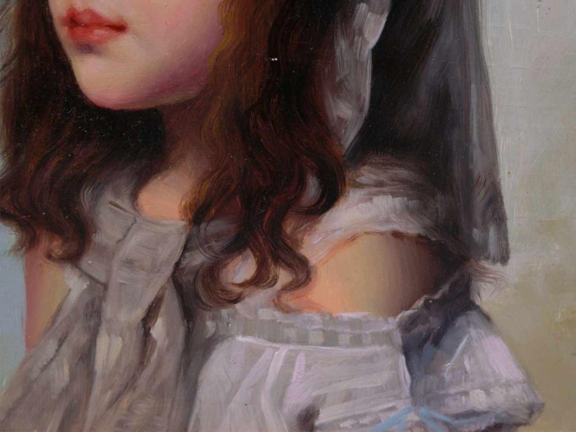 Rossi, Alberto (1858-1936) - Portrait enes jungen MädchensFein und detailreich ausgeführtes - Bild 4 aus 6