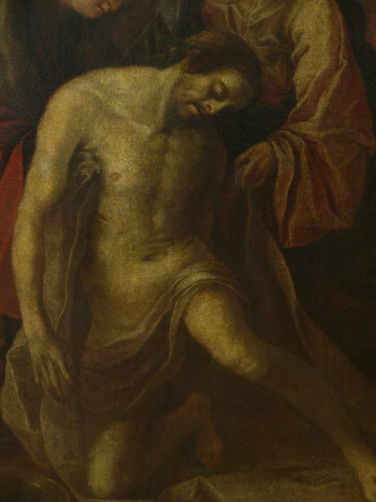 Niederländischer Meister - Beweinung Christi 18. Jhd.Lebensgroßes Hochformat. Johannes und Maria - Bild 3 aus 4