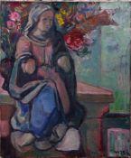 Raumberger, Wilhelm Manfred (1931-2003) - Stillleben mit Madonnenfigur 1975Der Maler lässt die Figur