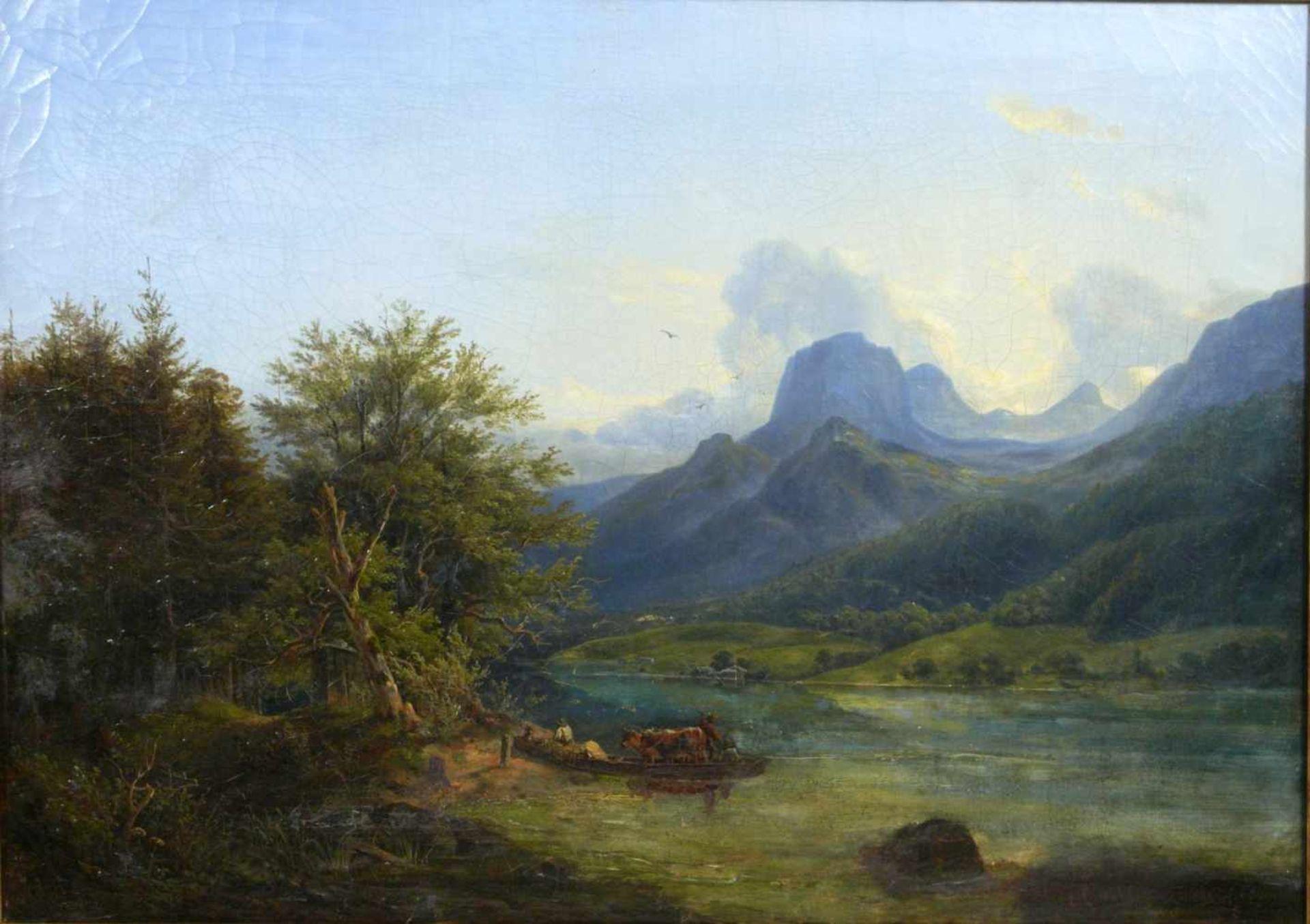 Ott, Johann Nepomuk (1804 - 1870) - Der Hintersee bei Berchtesgaden 1842Landschaftliche - Bild 2 aus 6