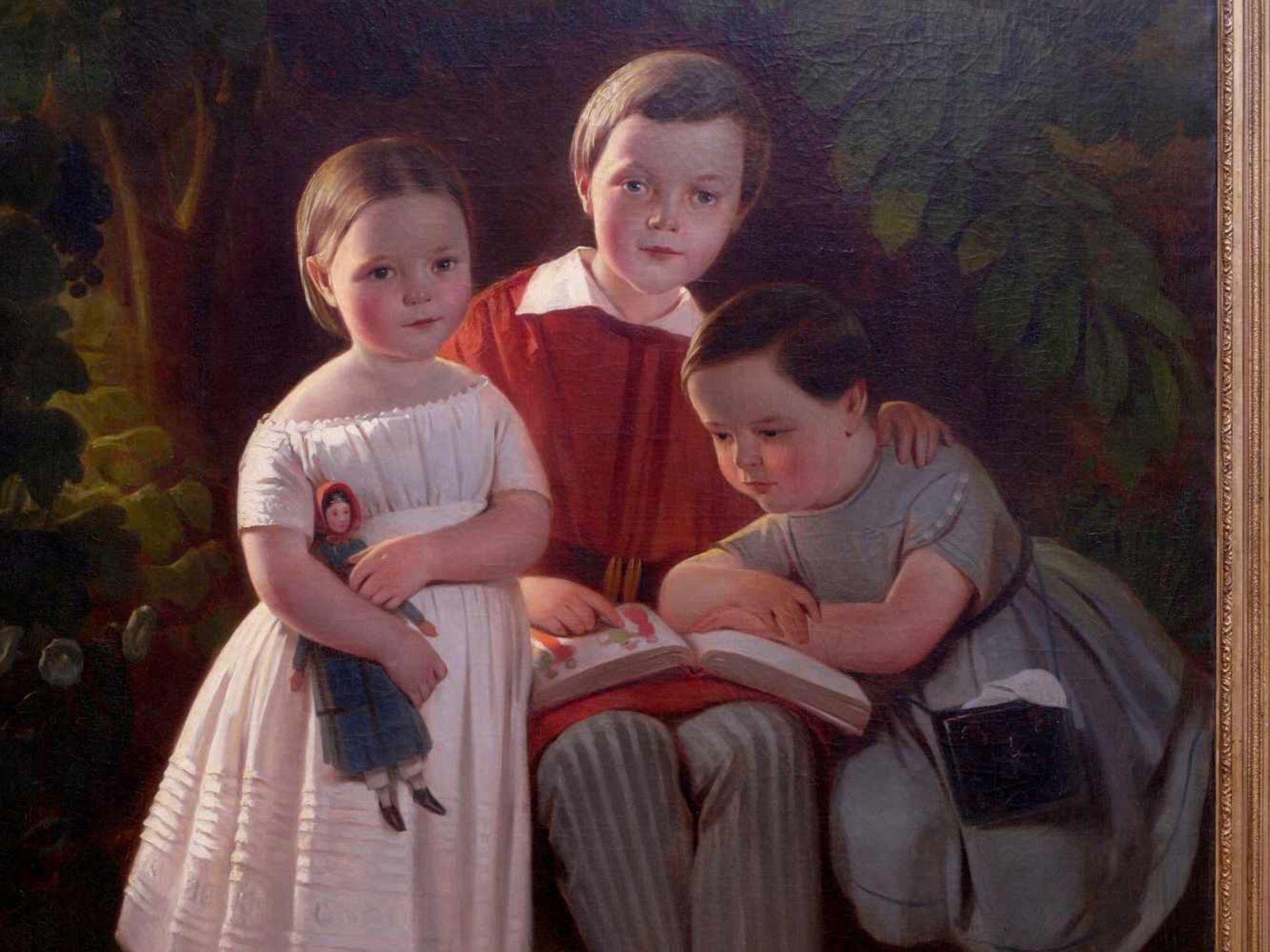 Karl Theodor von Piloty (1826-1886) - Portrait Familie Knauth in Leipzig 1849Großformatiges Portrait - Bild 3 aus 5