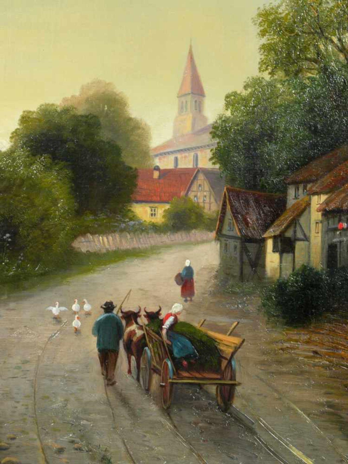 Moser, Herrmann (1835-?) - Dorfstraße in NiederbayernBlick in eine typisch bayerisch dörfliche - Bild 6 aus 6