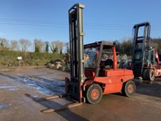 LINDE H60 6 TON DIESEL FORKLIFT, 6 CYLINDER DEUTZ ENGINE, WORKS AND OPERATES AS IT SHOULD *PLUS VAT*