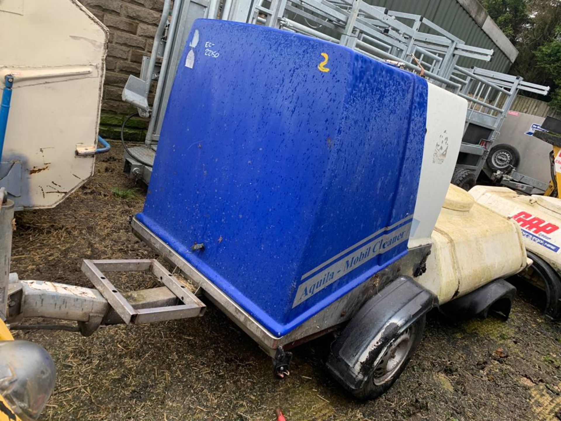 Lot 113 - AQUILA HIGH-PRESSURE MOBILE CLEANER / HOT WATER / DIESEL ENGINE - TOW-ABLE *PLUS VAT*