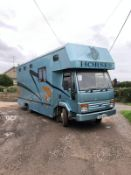 1991/J REG IVECO-FORD BLUE/GOLD HORSEBOX / LIVESTOCK CARRIER AUTO GEARBOX *PLUS VAT*