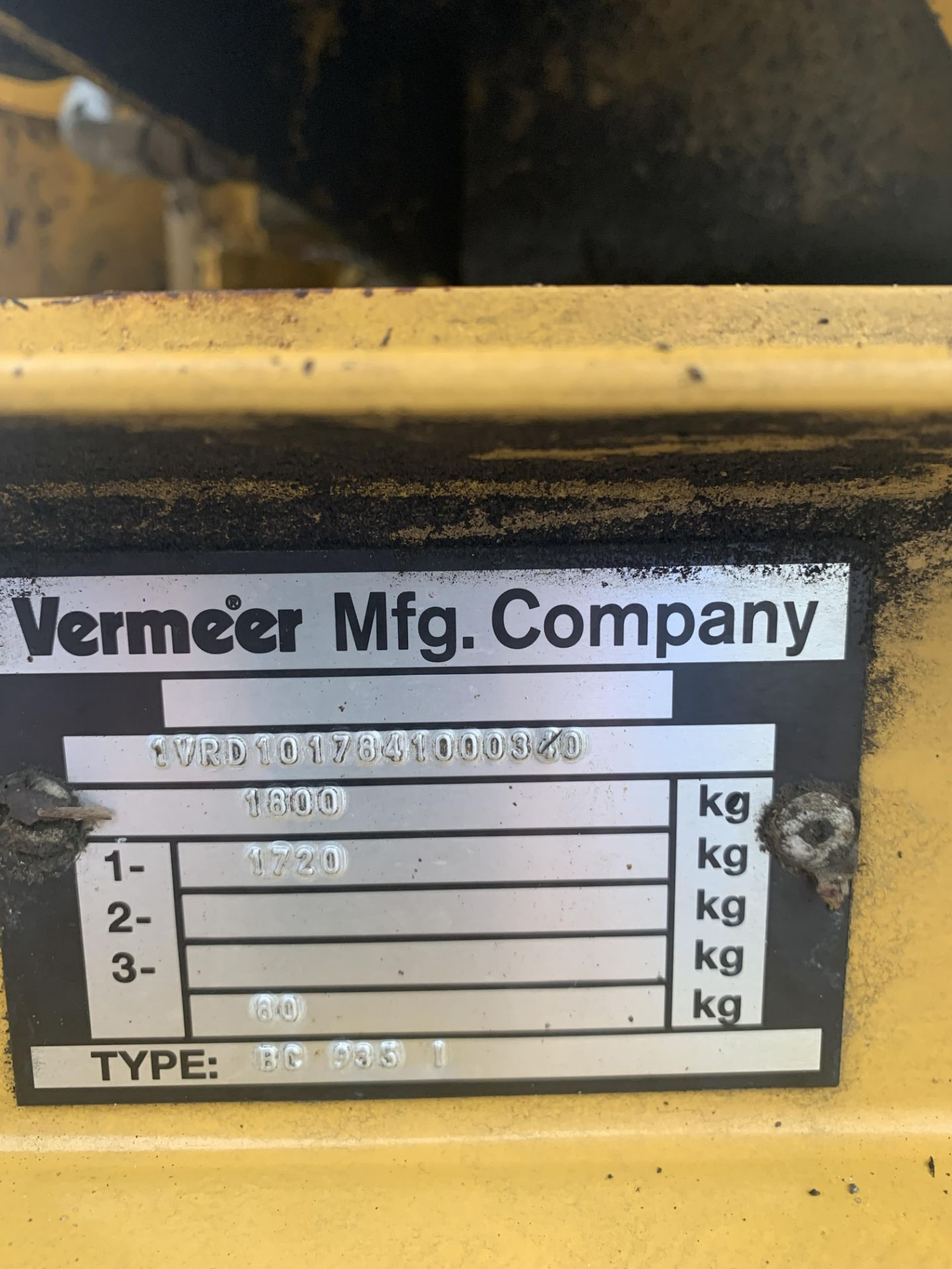 Lot 56 - VERMEER 935I SINGLE AXLE TOWABLE WOOD CHIPPER, RUNS, WORKS AND CHIPS WELL *NO VAT*