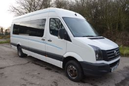 2009/09 REG VOLKSWAGEN CRAFTER 17 SEATER 5 TON MINIBUS / COACH 2.5 DIESEL, SHOWING 2 FORMER KEEPERS