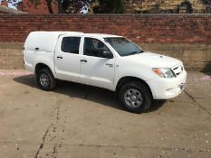 2008/58 REG TOYOTA HILUX HL2 D-4D 4X4 DOUBLE CAB PICK UP, SHOWING 0 FORMER KEEPERS *PLUS VAT*