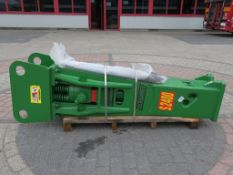 NEVER USED ROCK HAMMER S2400 HYDRAULIC HAMMER, SUIT 20 TONNER, C/W NEW PICK, WEIGHT 1200 KG *NO VAT*