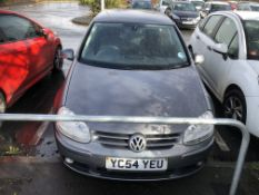 2004/54 REG VOLKSWAGEN GOLF GT TDI 2.0 DIESEL GREY 5 DOOR HATCHBACK, SHOWING 2 FORMER KEEPERS