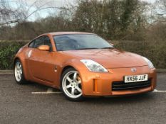 2006/56 REG NISSAN 350Z ORANGE 3.5 PETROL (300BHP) SPORTS COUPE, SHOWING 1 FORMER KEEPER *NO VAT*