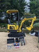 2020 NEW & UNUSED MINI TRACKED EXCAVATOR MICRO RHINOCEROS XN08 C/W 3 X BUCKETS & GRAPPLE *PLUS VAT*