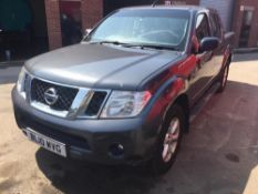 2010/10 REG NISSAN NAVARA ACENTA DOUBLE CAB DCI 188 2.5 DIESEL GREY 4X4 PICK-UP *PLUS VAT*