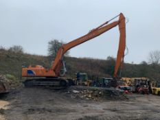 FIAT HITACHI FH200 LC-3, 20 TON TRACKED CRAWLER EXCAVATOR LONG ARM / REACH, RUNS, WORKS AND DIGS