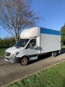 2013/13 REG MERCEDES-BENZ SPRINTER 313 CDI 2.2 DIESEL WHITE LUTON VAN C/W TAIL LIFT *NO VAT*