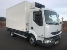 2010/10 REG RENAULT MIDLUM 180DXI REFRIGERATED TRUCK 7.5 TON SIDE DOOR, MANUAL BOX, STEEL SUSPENSION