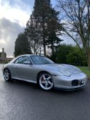 2003/53 REG PORSCHE 911 CARRERA 4S TIP S 3.6L PETROL SILVER CONVERTIBLE, SHOWING 3 FORMER KEEPERS