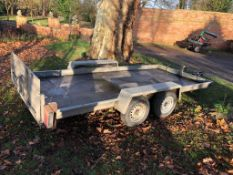 "ELSTON 14FT TILT BED TWIN AXLE PLANT TRAILER ON 16"" WHEELS, *PLUS VAT*"