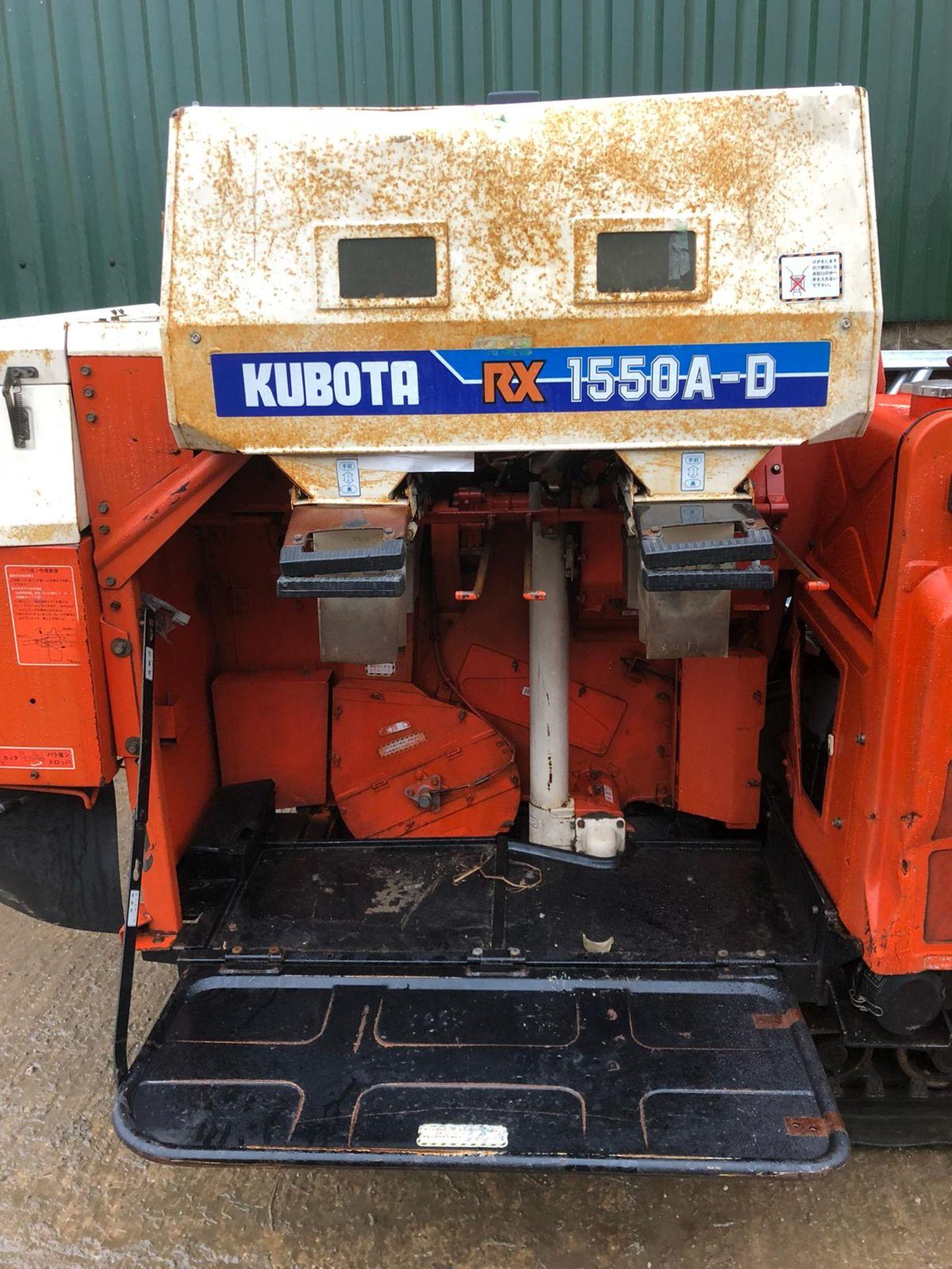 Lot 506 - KUBOTA RX 1550A-D RICE HARVESTER DIESEL RUBBER TRACKS LEVER DRIVE *PLUS VAT*