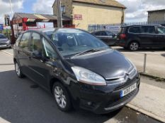 2010/10 REG CITROEN C4 PICASSO VTR+ HDI S-A 1.6 DIESEL BLACK MPV, SHOWING 2 FORMER KEEPERS *NO VAT*