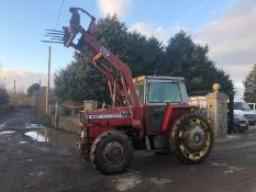 MASSEY FERGUSON 590 TRACTOR, 4 WHEEL DRIVE, ROAD REGISTERED, RUNS, WORKS LIFTS *PLUS VAT*