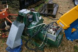 LEROY SOMER LISTER GENERATOR, 9.2 KVA 240 VOLT, FITTED WITH LISTER 2 CYLINDER ENGINE, ELECTRIC START