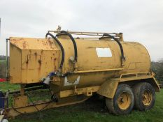 1989 TWIN AXLE TOW ABLE YELLOW OIL TANK, SERIAL NUMBER: VE 355 *PLUS VAT*